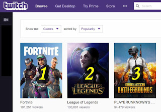 Top Games Twitch 2018 May