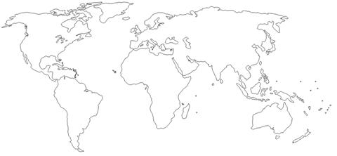 ملغي خريطة العالم صماء