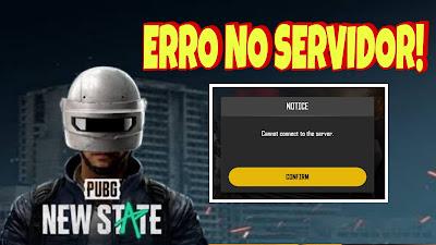 Pubg New State erro no servidor