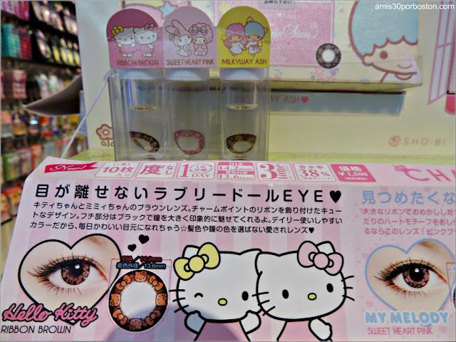 Lentillas de Hello Kitty en Tokio
