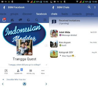 BBM Mod Facebook Theme Apk based v3.0.1.25