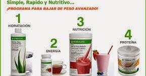 bajar de peso con productos herbalife