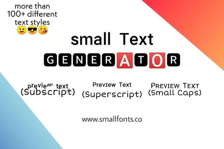Small Text Generator