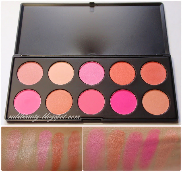 rubibeauty haul tmart coloretes blush palette swatch swatches
