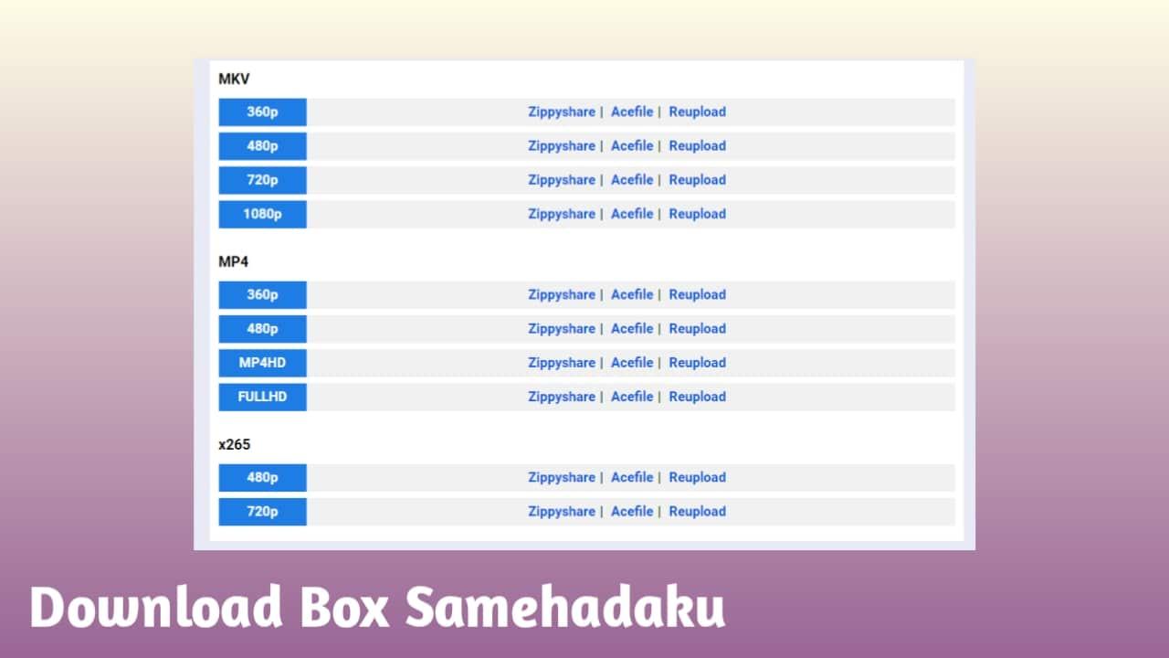 Download Box Samehadaku