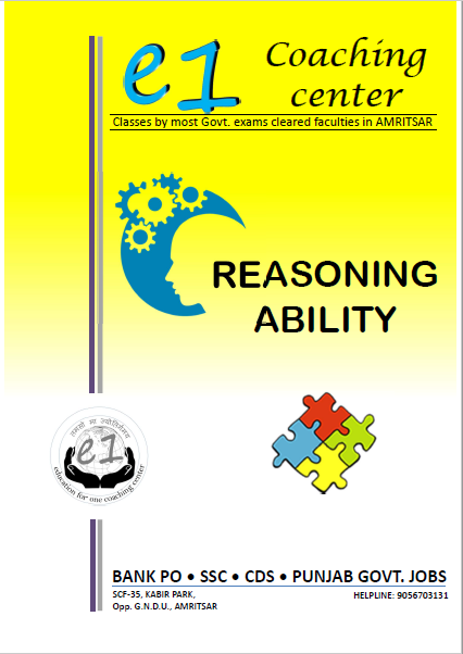 Reasoning Ability By e1 Coaching Center : For All Competitive Exam PDF Book