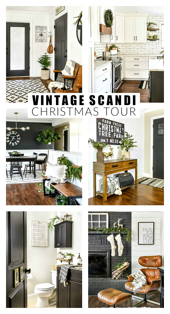 Neutral vintage scandi Christmas Home Tour