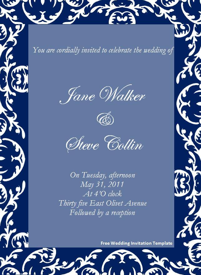 Wedding Invitations Templates Microsoft Office Wedding Inspiring – Free Word Templates for Invitations
