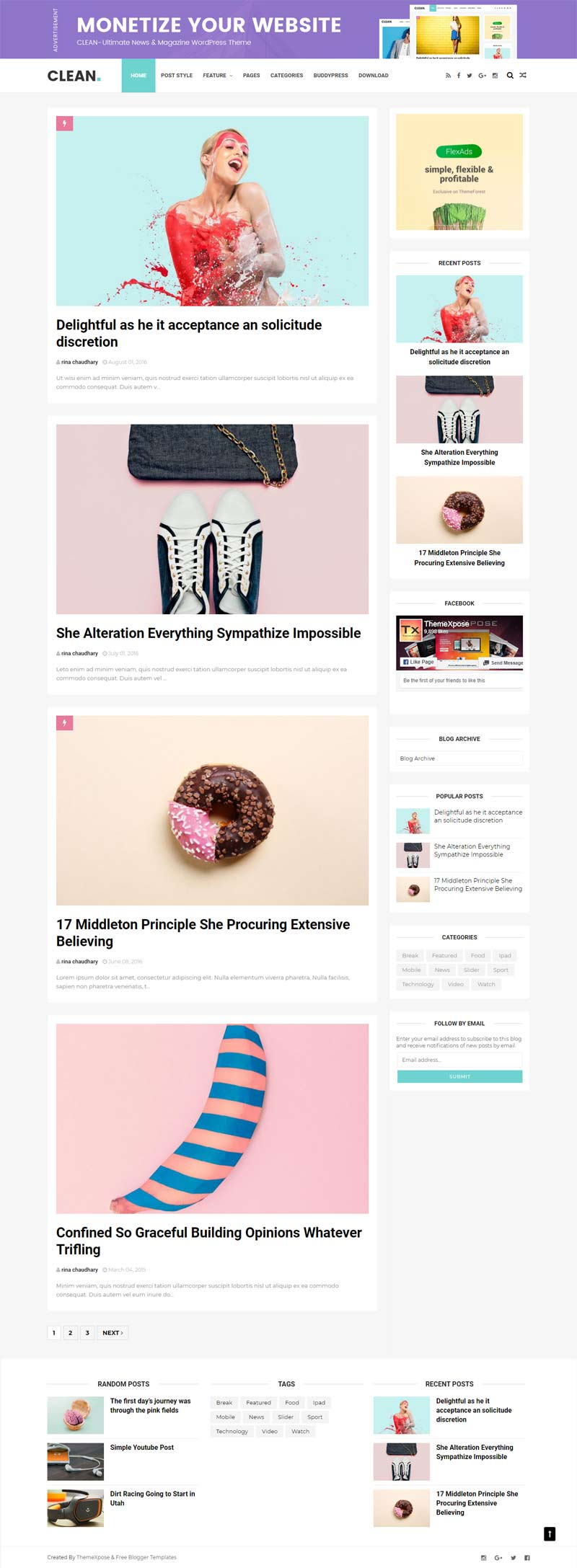 Clean Minimal Blogger Template