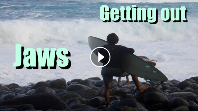 Surfers getting out at Jaws January 17 2021