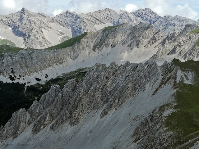 The geological formations of the Karwendel mountains