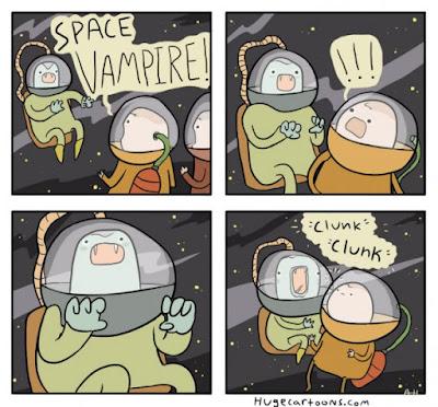 Meme de humor sobre vampiros espaciales