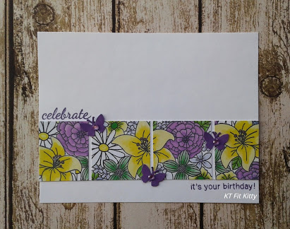 Celebrate by FT Fit Kitty features Blooming Botanicals, Basket of Wishes, Newton's Birthday Bash by Newton's Nook Designs; #newtonsnook, #inkypaws, #floralcards, #carmaking