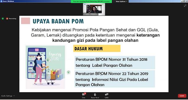 BPOM tentang label olahan pangan