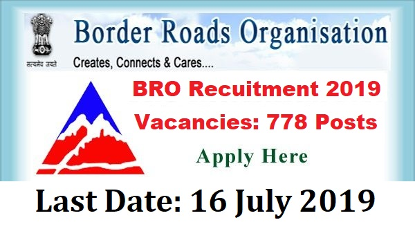 BRO Recruitment for 778 Driver, Electrician, Mechanic and