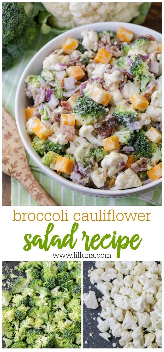 BROCCOLI CAULIFLOWER SALAD #Brocoli #Cauliflower #Ssalad #Vegetarian #Healthyfood #Healthyrecipe