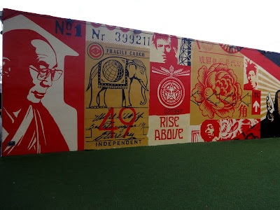 Wynwood Walls Shepard Fairey graffiti art