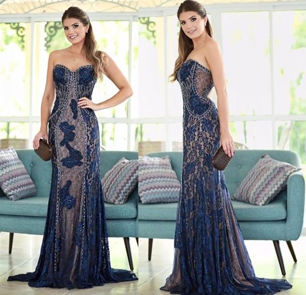 vestido azul formatura