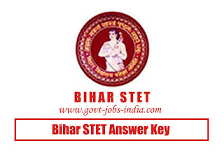 Bihar STET Answer Key 2019