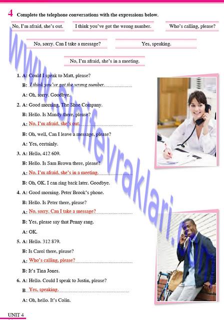 8. Sınıf İngilizce Çalışma Kitabı Cevapları Tutku Yayınları Sayfa 26