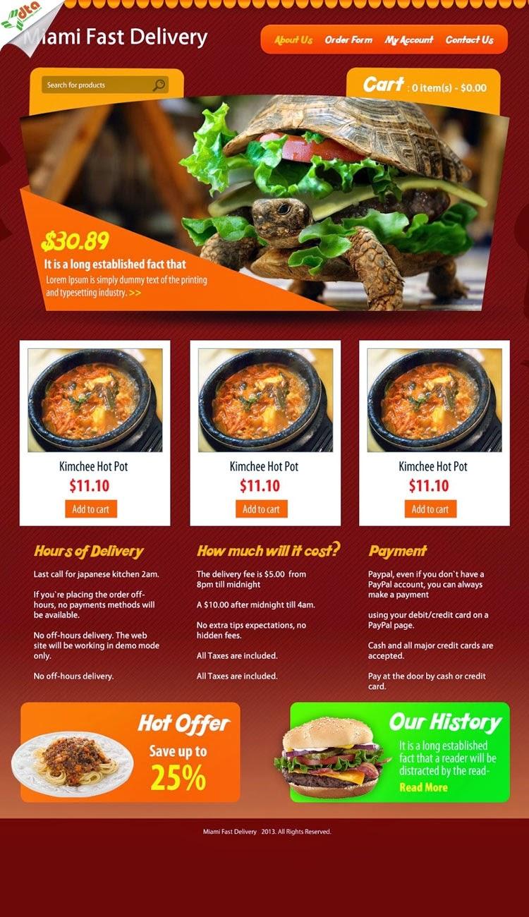 thiết kế website bán hàng bánh pizza giá rẻ