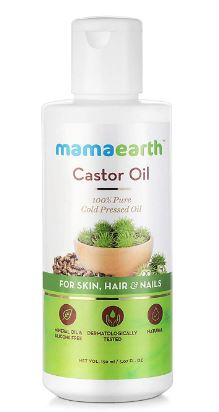 Mamaearth Castor Oil 100% Pure Cold Pressed Oil For Skin- Hair & Nails