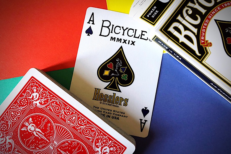 Red Hesslers Rider Back Playing CardsPoker DeckCollectable