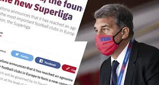 Barcelona officially announce involvement Super League foundation