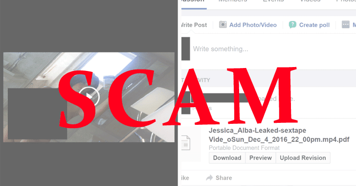 Beware of New Celebrity Sex Tape (Scam) Leaked on Facebook!