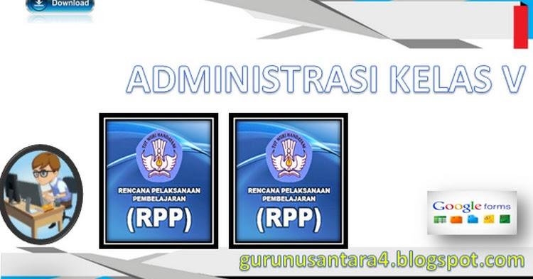 Unduh Administrasi Guru Kelas 5 Sd Ktsp Terlengkap Guru Nusantara
