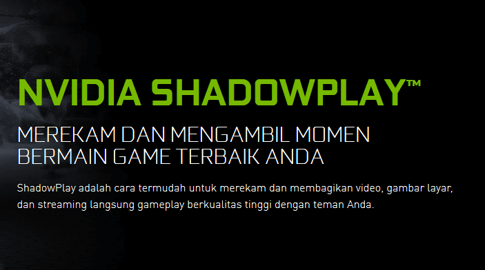 Merekam Game NVIDIA