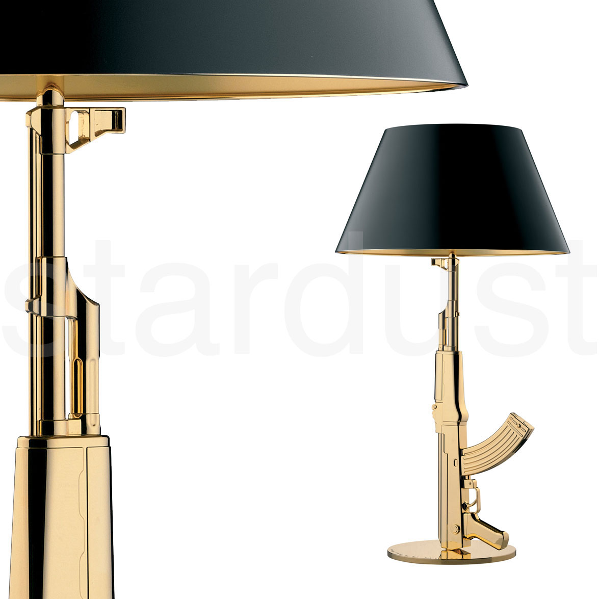 Contemporary Modern Large Gold Plated Bedside Table Lamp
