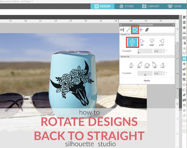 silhouette 101, silhouette america blog, rotate designs, silhouette studio, design tools