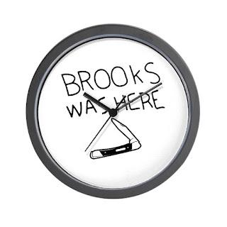 Shawshank Redemption, Brooks Was Here Wall Clock, Shawshank Redemption Gifts and Merchandise, Stephen King Store