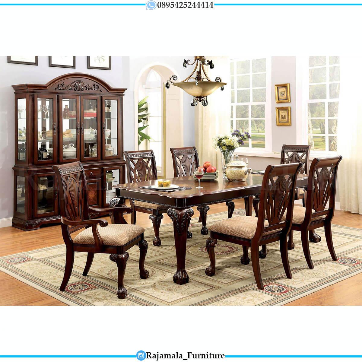 Meja Makan Minimalis Terbaru Natural Jati Solid Wood RM-0717
