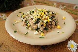 foto Ricetta pasta di farro con agretti e uovo sodo
