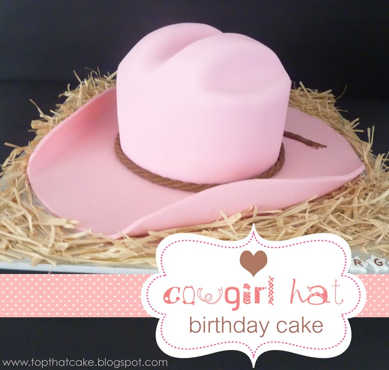 Top That!  YEEHAW!!!  Pink Cowgirl Hat  Birthday Cake 9cbe07a1ff0