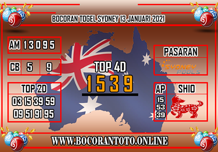 Prediksi Bocoran Toto Sydney Rabu 13 Januari 2021