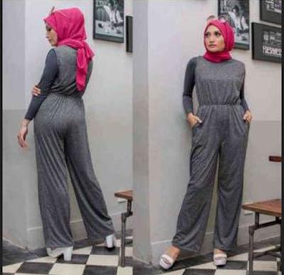baju jumpsui muslim yang keren