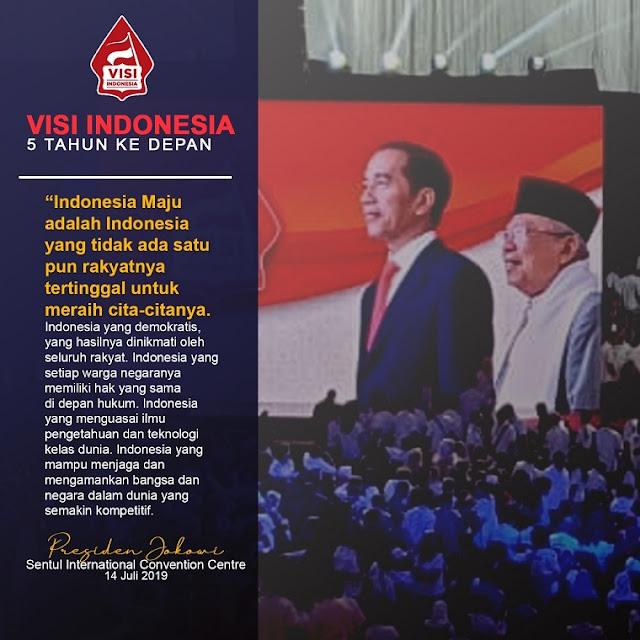 Indonesia Maju adalah Indonesia yang tidak ada satu pun rakyatnya tertinggal untuk meraih cita - citanya.