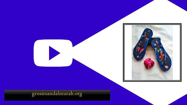 Sandal AMX Motif Bunga Simplek Wanita