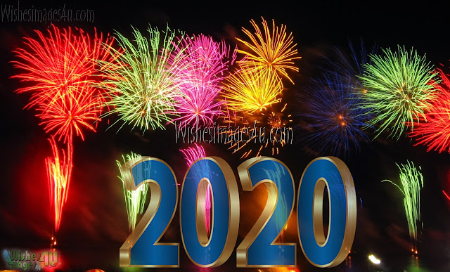 Happy New Year 2020 4K Fireworks Background Download