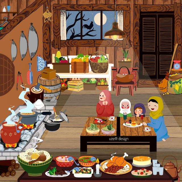 Dapur Rumah Panggung Khas Melayu