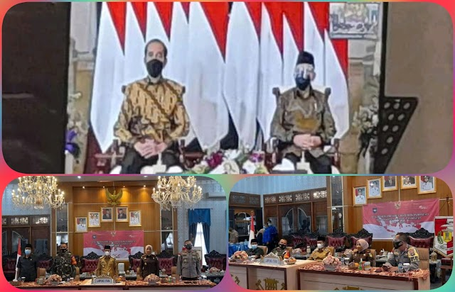 Bupati Lampura Hadiri Pengarahan Presiden Jokowi Secara Virtual