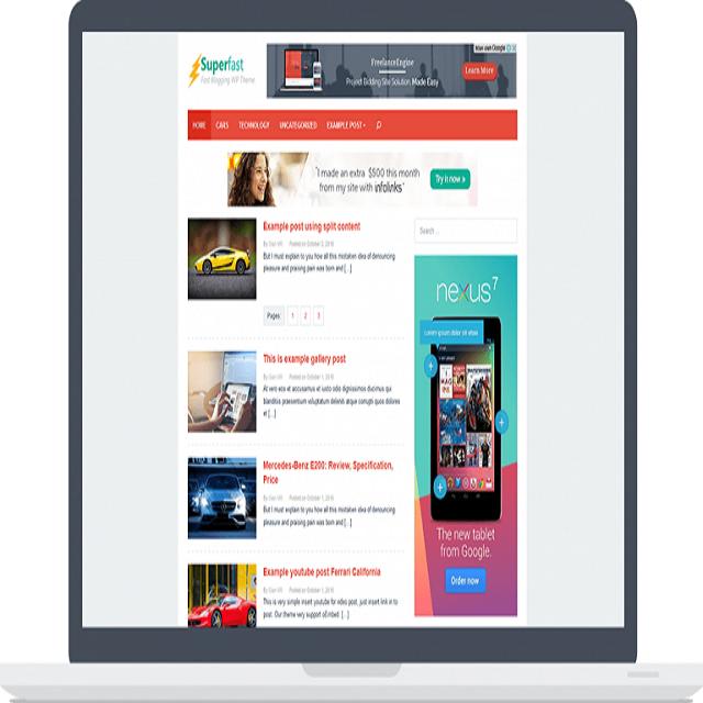 Superfast Theme Wordpress