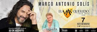Concierto de MARCO ANTONIO SOLIS en Bogotá 2019