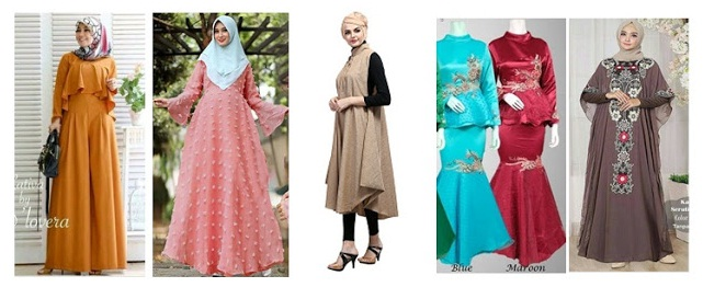 Gamis Modern untuk Wanita Kekinian yang Ada di Pasaran