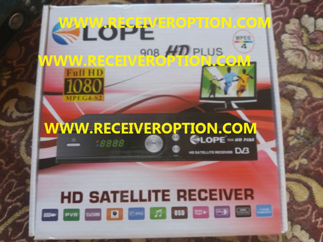 LOPE 908 HD PLUS RECEIVER TEN SPORTS OK NEW SOFTWARE