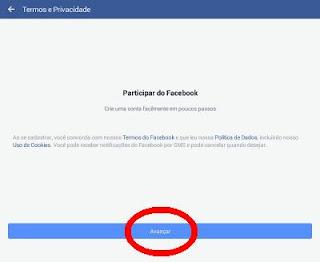 Política de dados para participar do Facebook