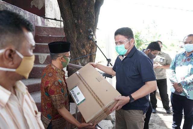 HD Semangati Korban Kebakaran Desa Besar Ibul II Pemulutan